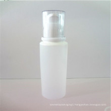 white face cleanser tube with pump