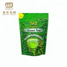 Le zip-lock de papier d'aluminium tiennent les sachets en plastique rescellables adaptés aux besoins du client par impression de logo de poche pour l'emballage de thé