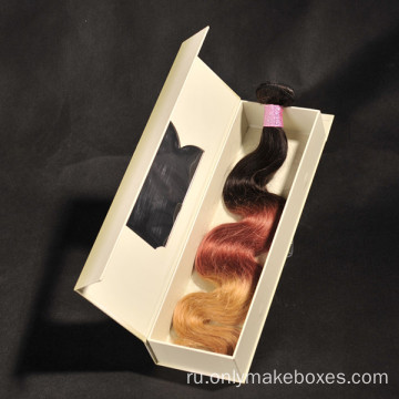 Luxury+Hair+Extension+Packaging++Rigid+Box