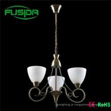Lâmpada de vidro branco marroquino Down Lamp