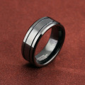 Fit Comfort tungsten carbide pernikahan band hitam