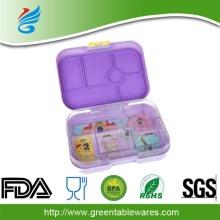 LFGB एफडीए Tritan Bento बच्चों को दोपहर के भोजन के बॉक्स Leakproof 6 डिब्बे पीपी कंटेनर