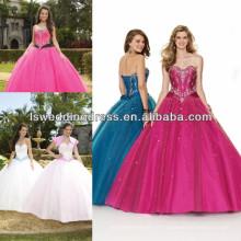 HQ2001 2014 Vestido de baile de estilo azul royal de quinceanera de vestido azul