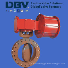 Pneumatic Double Acting RF Flanged Butterfly Valve