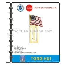 Die USA Flagge Metall Lesezeichen mit weichen Emaille
