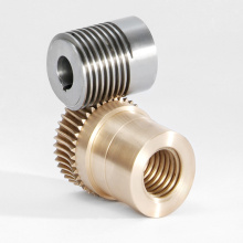 Custom Machined transmission Duplex Worm Gear Set