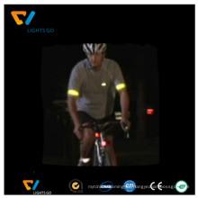 Kundenspezifische fluoreszierende grüne Sportthema reflektierende Sicherheitswarnreflexionsband für Förderung