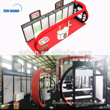 Detian Offer slat wall stand cosmetics exhibition booth trade show exhibit display