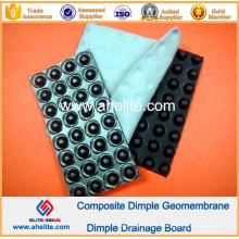 Panneau imperméable de HDPE Dimple Geomembrane