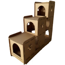 Cheap for Primary Color Corrugated Paper Cat House Corrugated Cardboard paper cat House export to Kenya Manufacturers