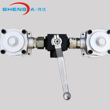 hydraulic duplex filter strainer for return line system