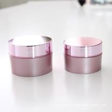 15g 30g 50g Plastic Ream Jar with Aluminum Cap