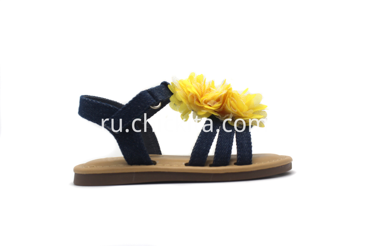 Children Flat Fashion Sandals With big flower