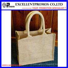 Logotipo ecológico Bolsa de yute promocional personalizada (EP-B581707)