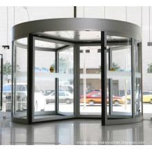 Silver Colour Revolving Door System