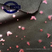 Changshu fabricante weft malha de impressão de ouro alta strech jersey tecido 87 poliéster 13 span