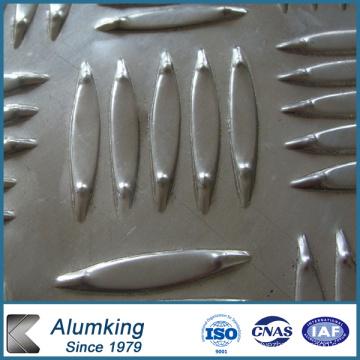Feuille / plaque / panneau en aluminium à cinq barres à carreaux / aluminium 5052/5005