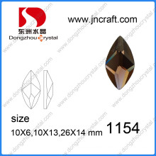 Delicate Cut Mirror Glass Flat Back Glass Stones for Wholesale