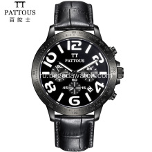 Mens luxury stainless steel chronograph watches
