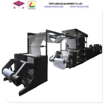 Dos carretes de papel completamente automático alambre de costura de libro de ejercicios línea de producción Ld1020p máquina
