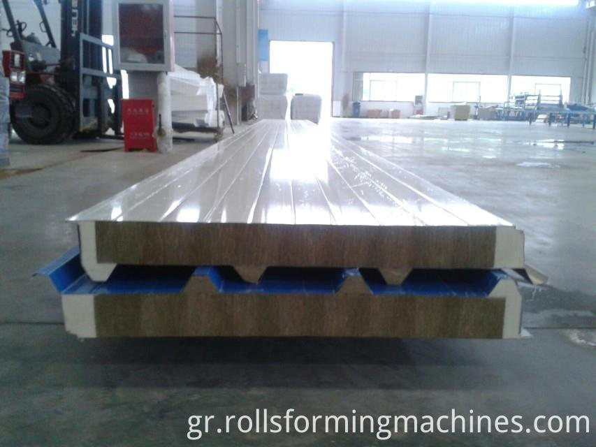roof wall sandwich panel machine