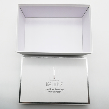 Perak Stamping Square White Packaging Makeup Cosmetic Box
