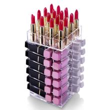 Organizador de brillo de labios de acrílico transparente personalizado