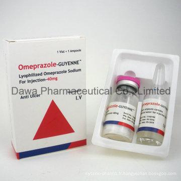 Guyenne Omeprazole Retardé, Injection De Réducteur D'acide 40 Mg