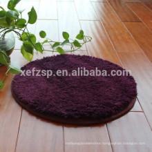100% polyester modern round area rug