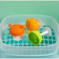 Juguete de mordedor de bebé de silicona de hongo personalizado suave