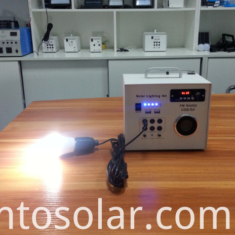 Solar home light with radio bluetooth