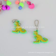 Dinosaure forme souple Pvc pendentif / cintre avec chaîne à billes