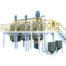 Configuração de equipamento para linha de produção de tinta látex