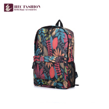 HEC Custom Fashion Teenager Canvas Leather Backpack