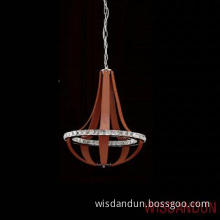 Special Modern leather and iron  LED bulb chandelier lamp