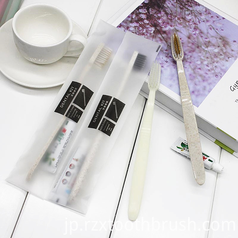 Degradable Straw Toothbrush