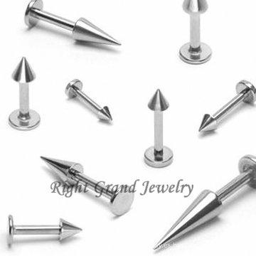 Punto personalizada labios cuerpo Joyería Piercing de titanio