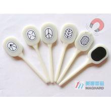 Tranches 3D magnétiques avec différents vernis à ongles