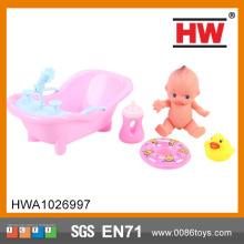 人気の 7 インチの小さな浴室人形シミュレーション人形