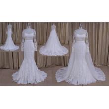 Sirena vestido de novia de la sirena tren desmontable