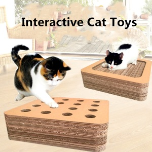 Hot sale reasonable price for Custom Straight Panel Cat Scratching Board corrugated paper cat scratch board toy with hole supply to Zimbabwe Manufacturers