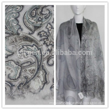 silk with wool printing stole scarf