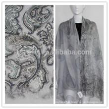 Seda com lã impressão estola lenço