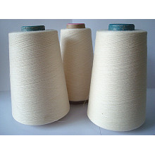 Wool Cotton Blanched Yarn Raw White