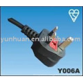 Ac Power cord UK BS type mains lead