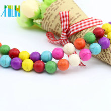 Best Selling M0006 Round Shape Mix Color Tibetan La bella durmiente Turquesa Perlas Persian Turquoise Stones