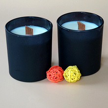 나무 윅 100 % SOYBEAN WAX Natural Jar Candle