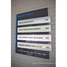 Edificio Floor Lobby Stair Entry Directory Sign