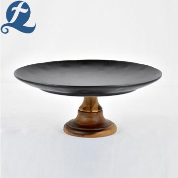 Luxy Matte Black Тарелка для торта для украшения
