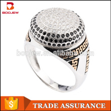 New charms Cubic Zirconia 925 Sterling Silver Man Ring Model